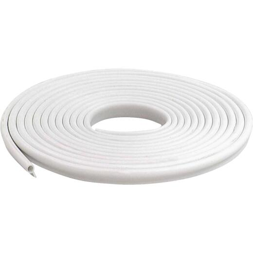 M-D 1/2 In. x 17 Ft. Rigid White Door Jamb Weatherstrip