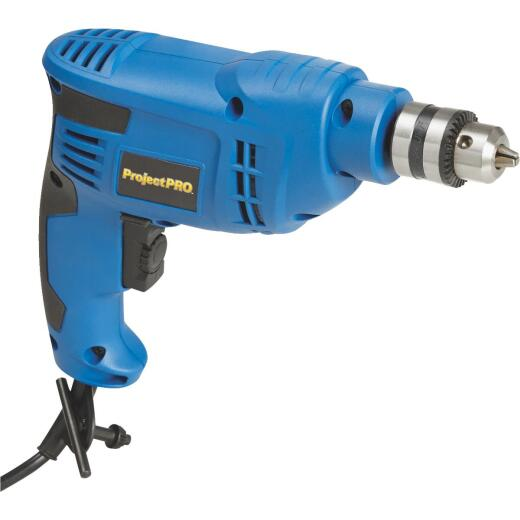 Project Pro 3/8 In. 4.2-Amp Keyed Electric Drill