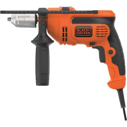 Black and Decker 1/2 In. 6-Amp Keyless Electric Hammer Drill