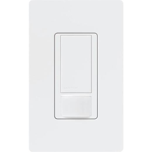Lutron Maestro White 900 Sq. Ft. Coverage 180 Deg. Detection 3-Way Occupancy Sensor Switch